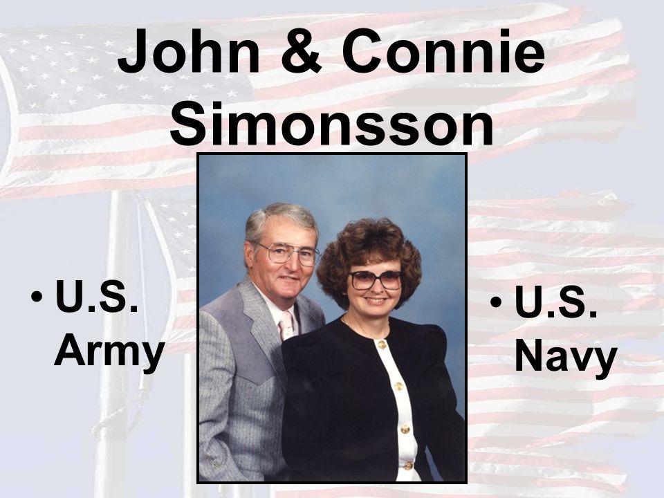 John & Connie Simonsson U.S. Army U.S. Navy