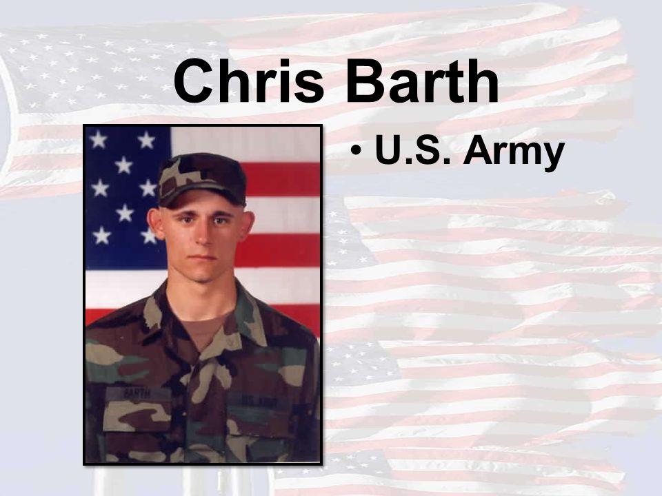 Chris Barth U.S. Army