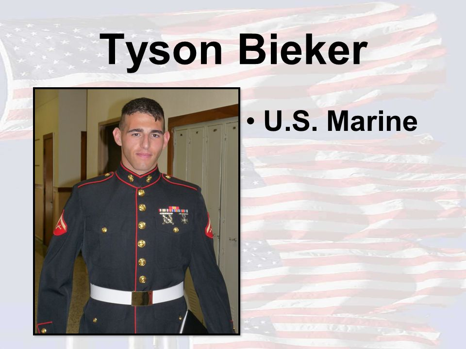 Tyson Bieker U.S. Marine