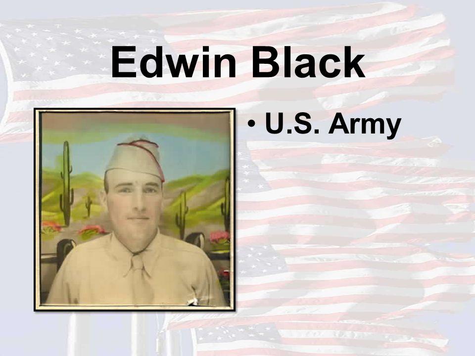 Edwin Black U.S. Army