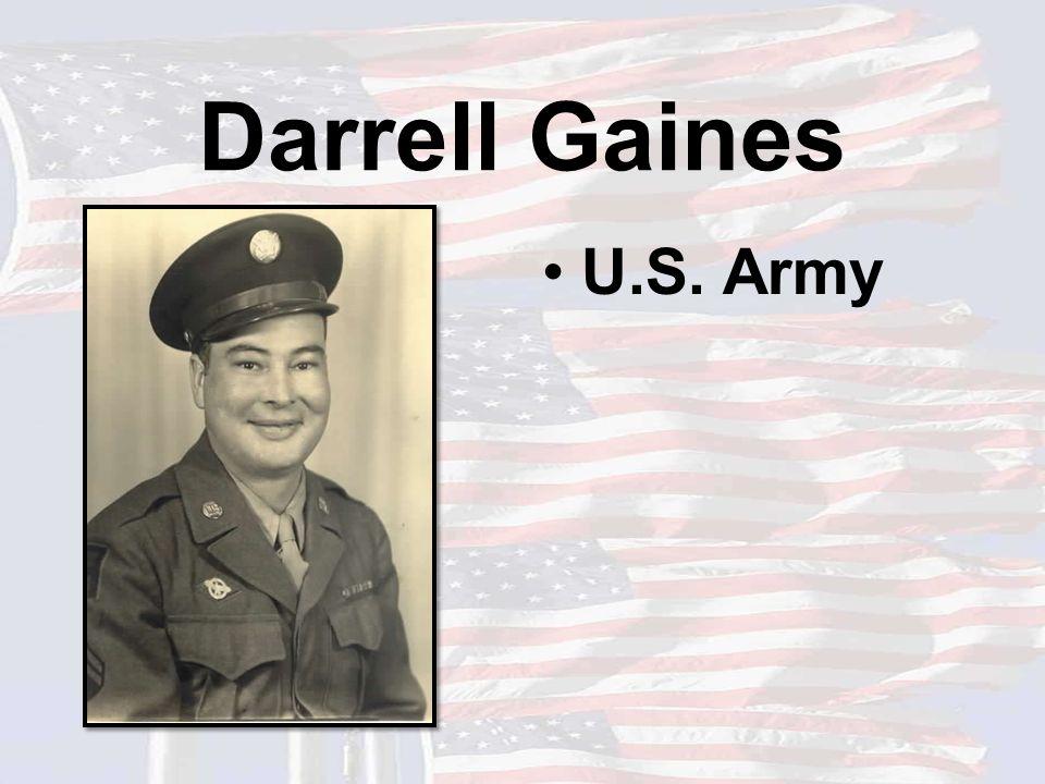 Darrell Gaines U.S. Army