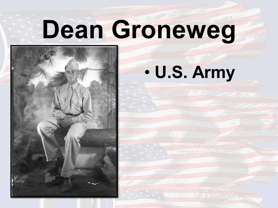 Dean Groneweg U.S. Army