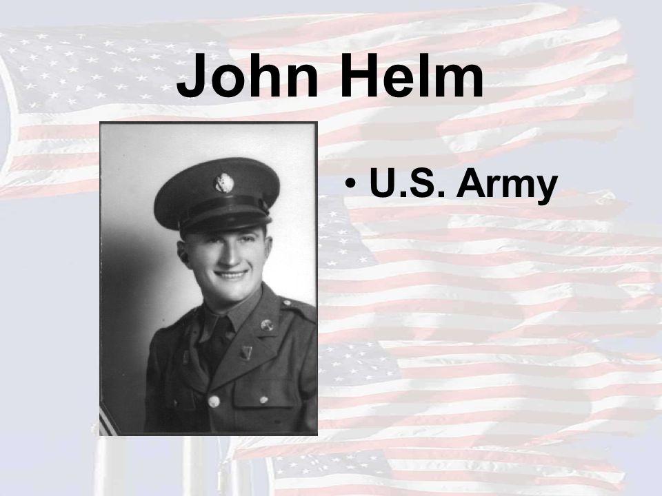 John Helm U.S. Army