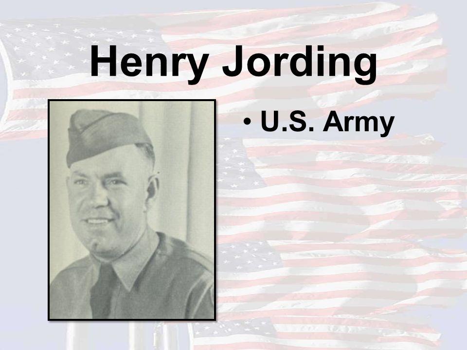 Henry Jording U.S. Army