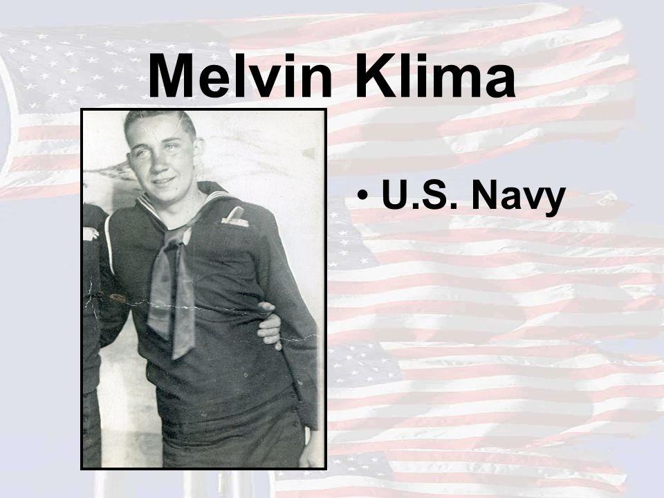 Melvin Klima U.S. Navy