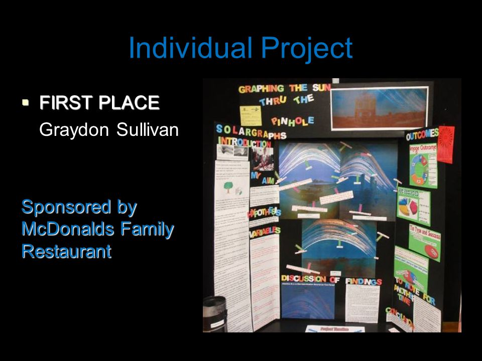 Individual Project  FIRST PLACE Graydon Sullivan Sponsored by McDonalds Family Restaurant