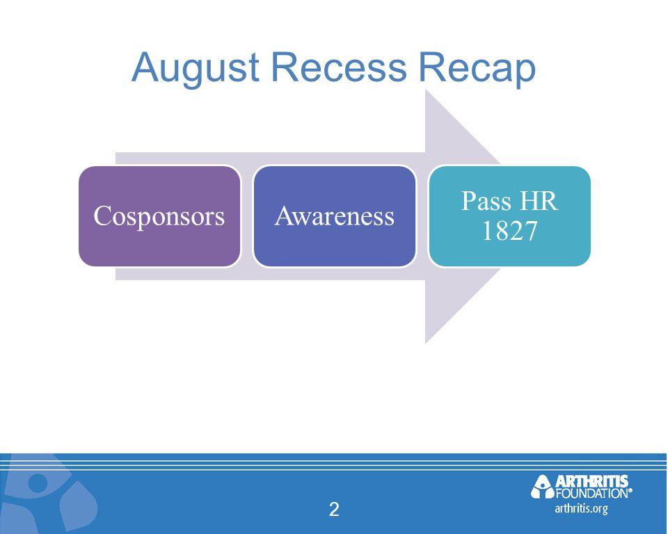 August Recess Recap 2 CosponsorsAwareness Pass HR 1827