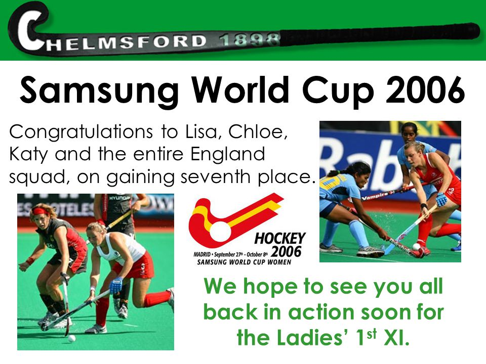 Congratulations to Lisa, Chloe, Katy and the entire England squad, on gaining seventh place.