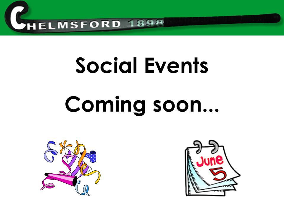 Social Events Coming soon...