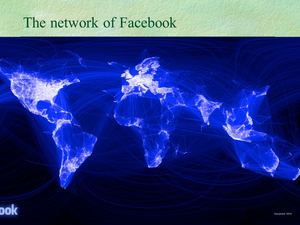 22 The network of Facebook