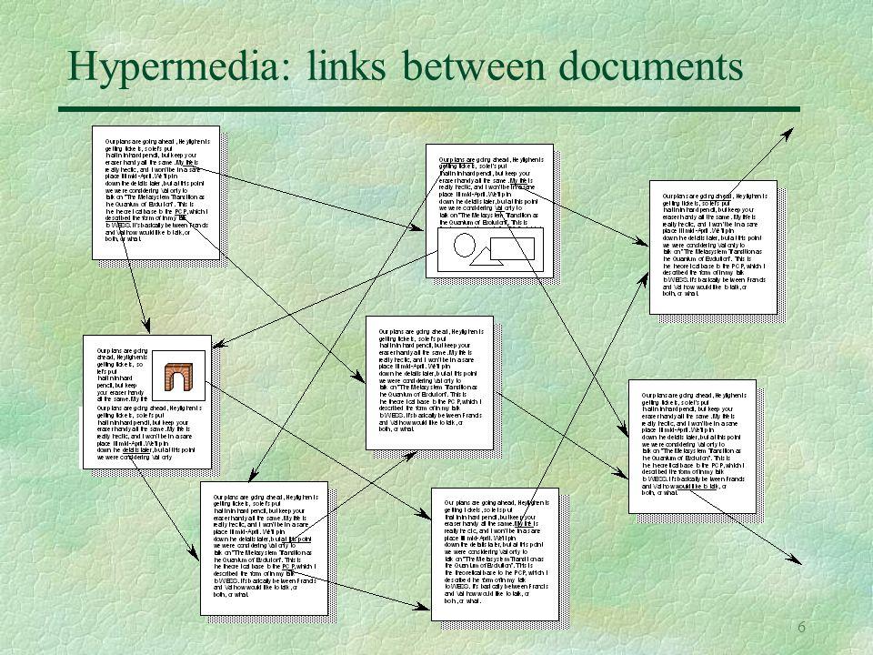 6 Hypermedia: links between documents