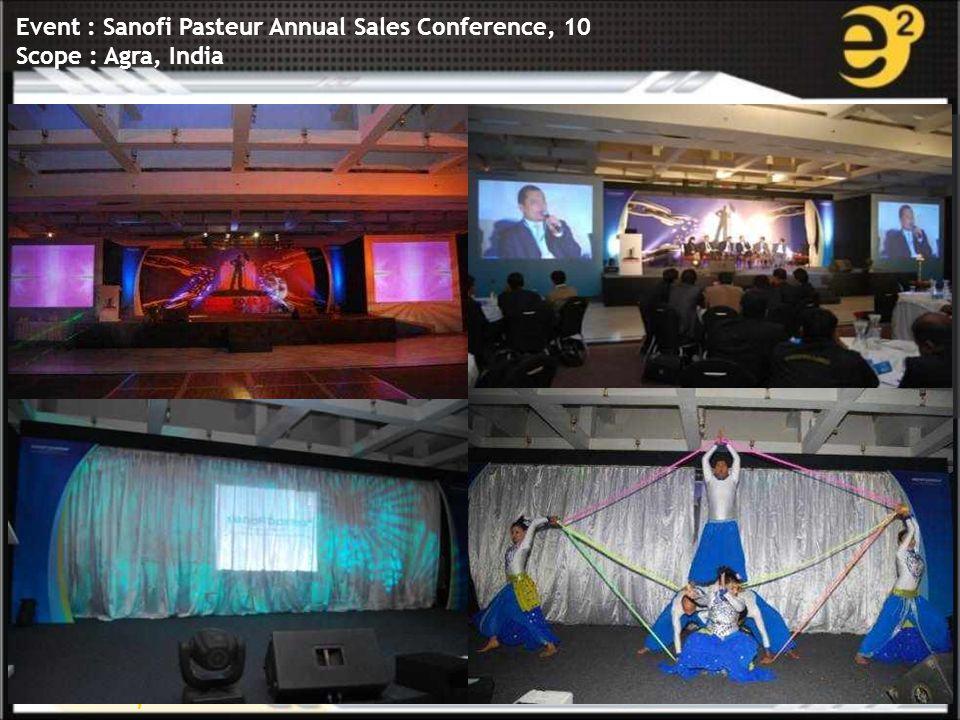 www.e-square.in Event : Sanofi Pasteur Annual Sales Conference, 10 Scope : Agra, India