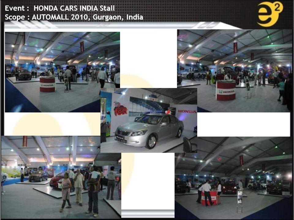 www.e-square.in Event : HONDA CARS INDIA Stall Scope : AUTOMALL 2010, Gurgaon, India