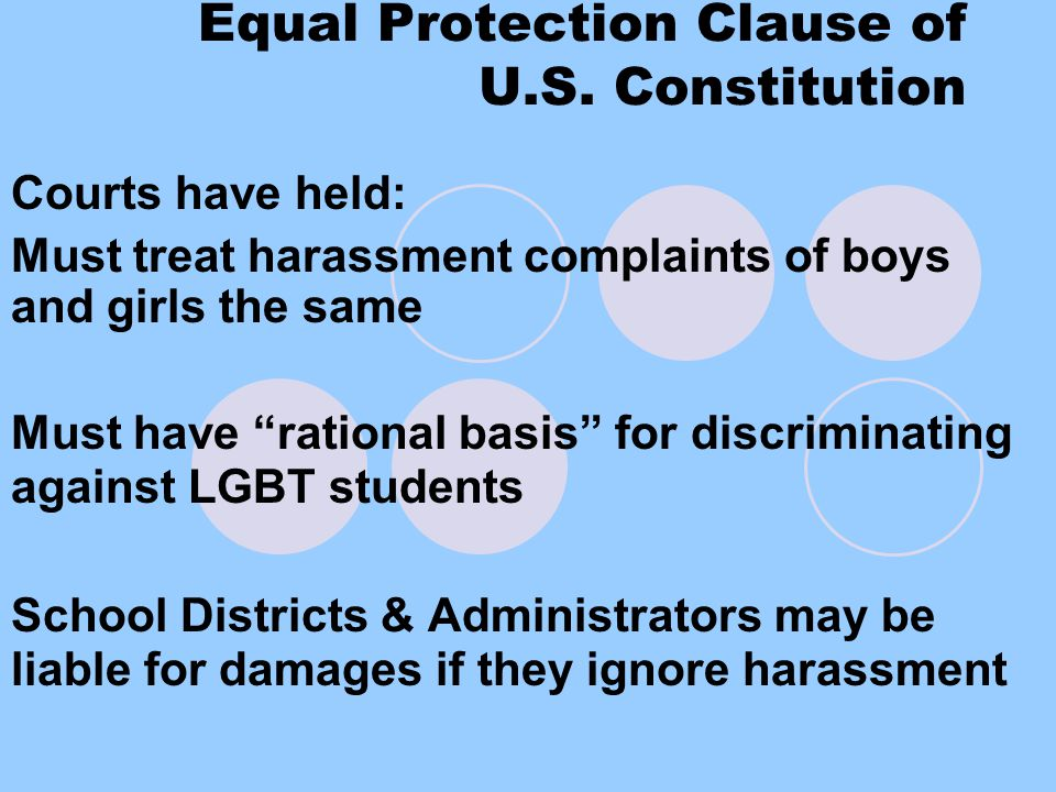Equal Protection Clause of U.S.