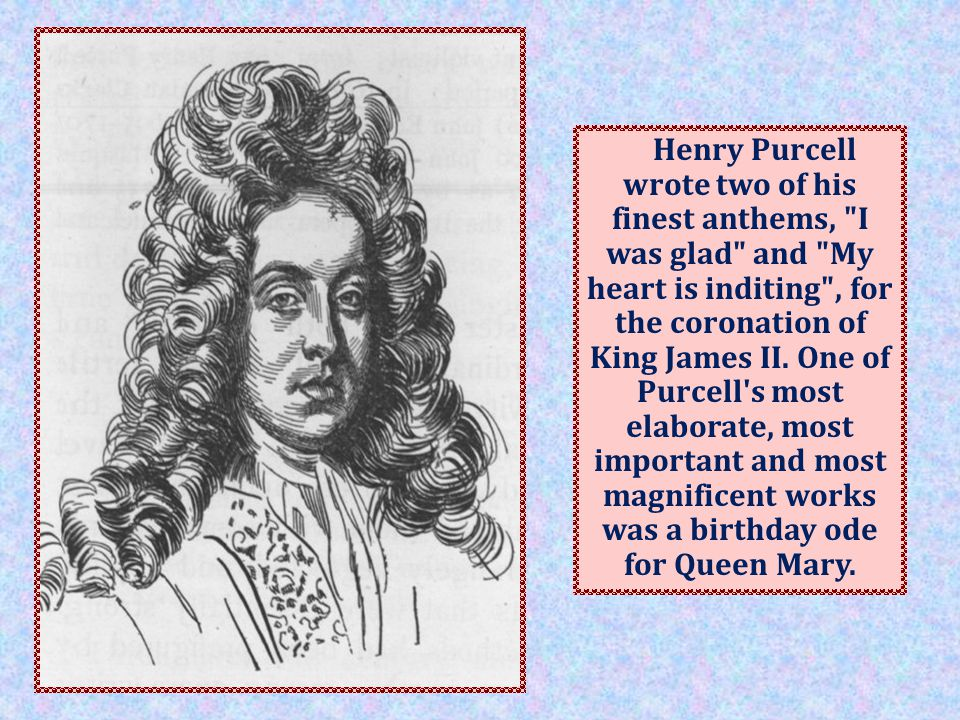 Purcell is honoured together with J.S.Bach and G.F.