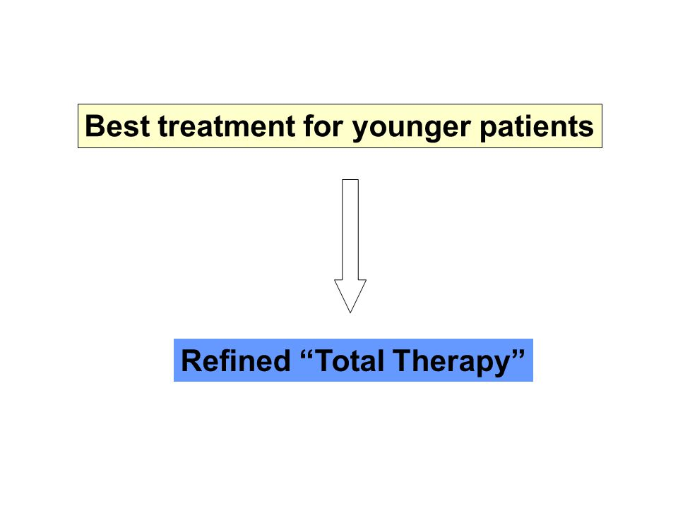 """Best treatment for younger patients Refined """"Total Therapy"""""""