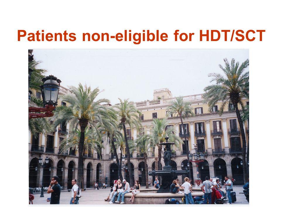 Patients non-eligible for HDT/SCT