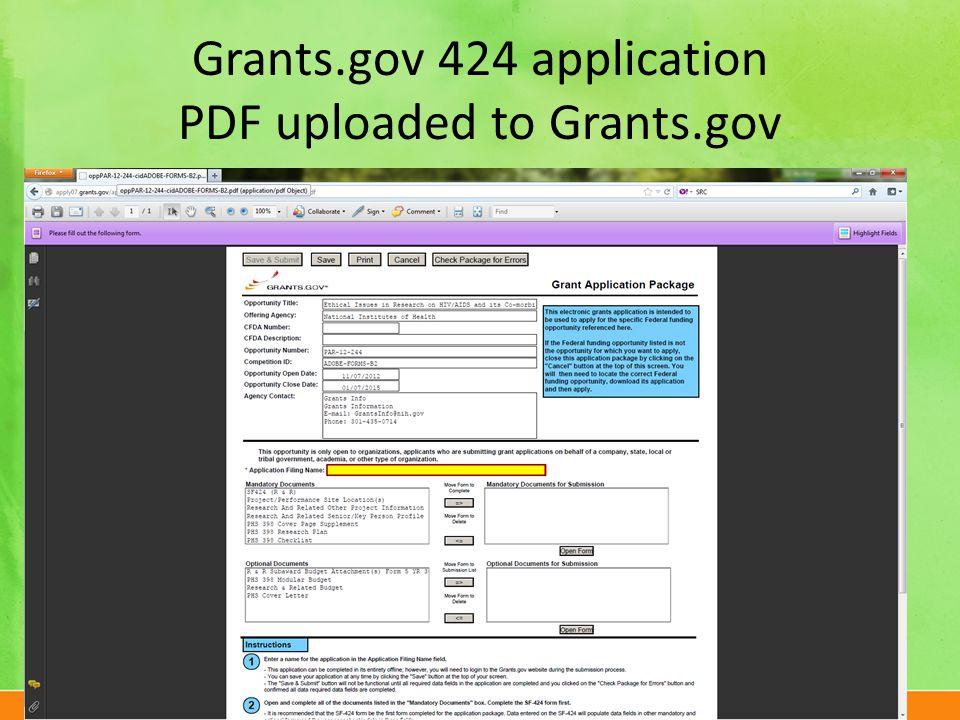 The University of Texas at Dallasutdallas.edu Grants.gov 424 application PDF uploaded to Grants.gov 23