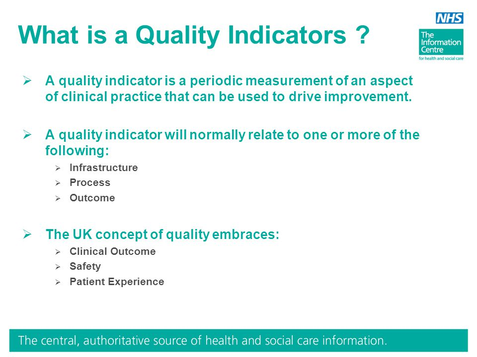 What is a Quality Indicators .