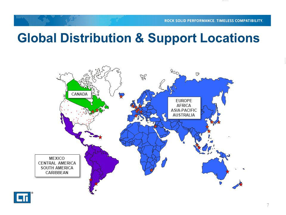 Global Distribution & Support Locations 7