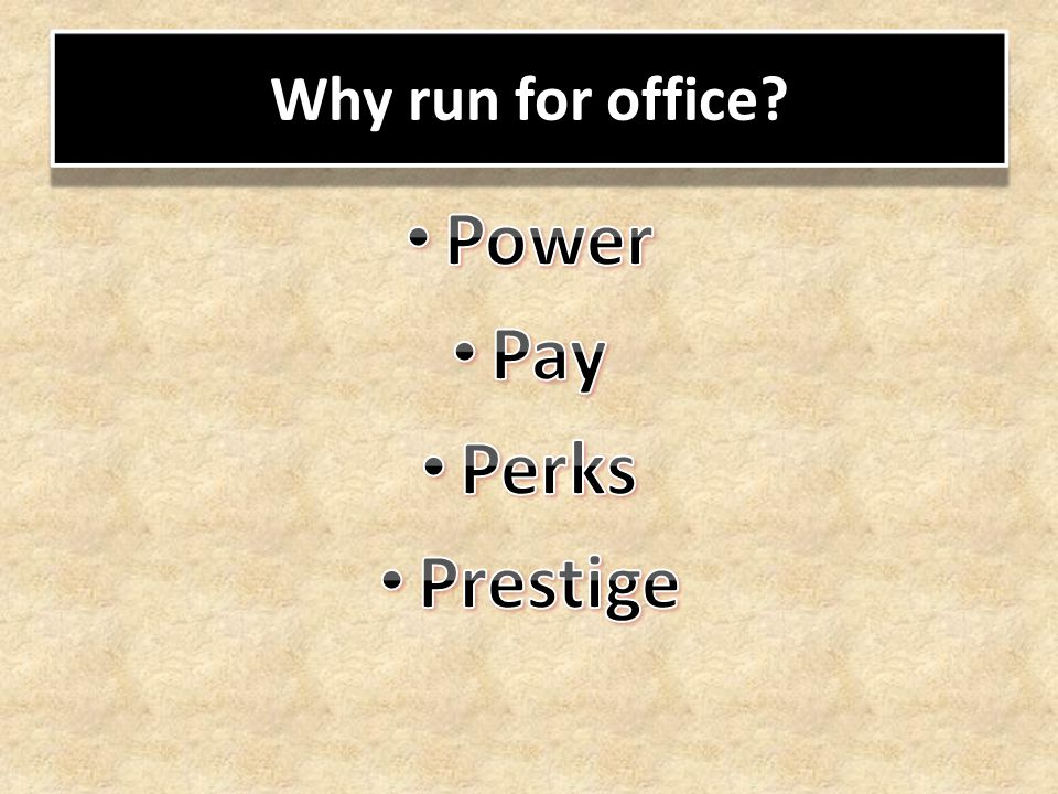 Why run for office