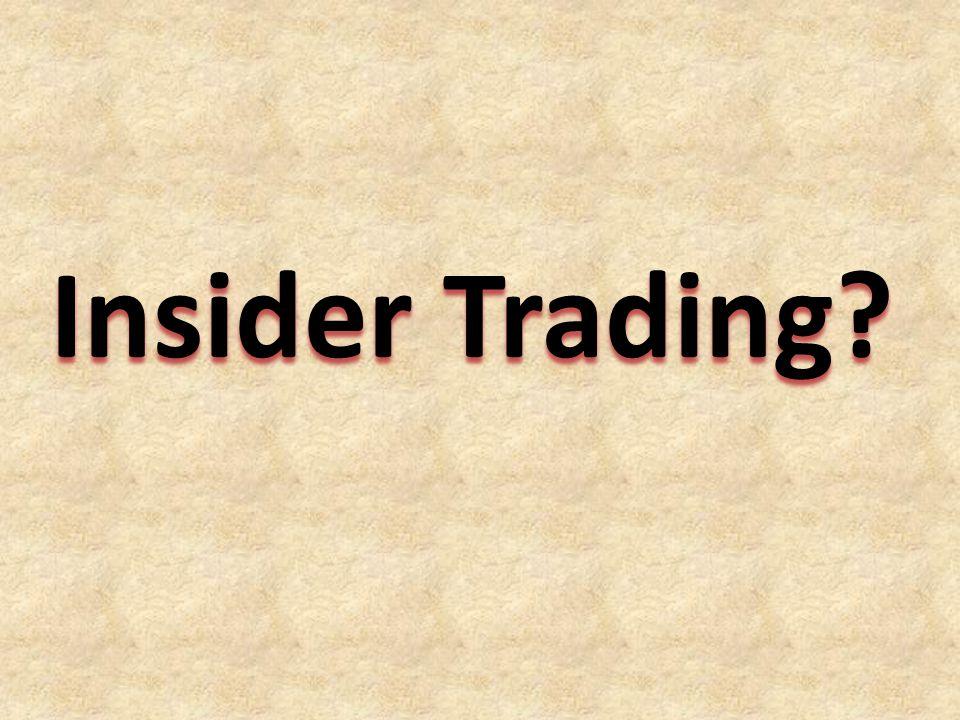 Insider Trading