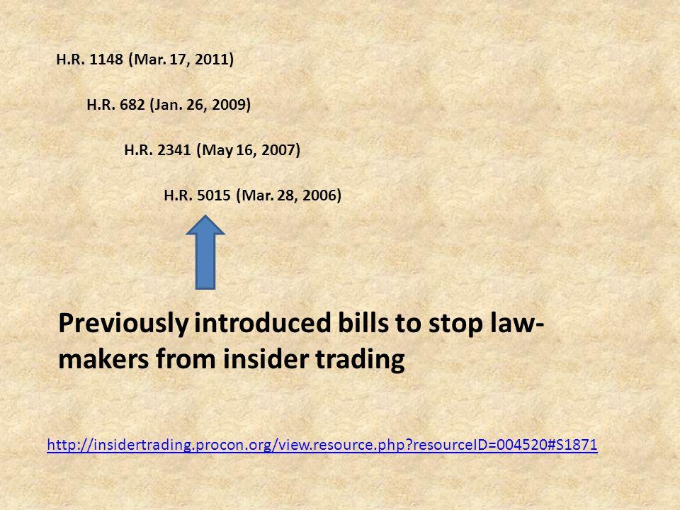 H.R. 1148 (Mar. 17, 2011) H.R. 682 (Jan. 26, 2009) H.R.