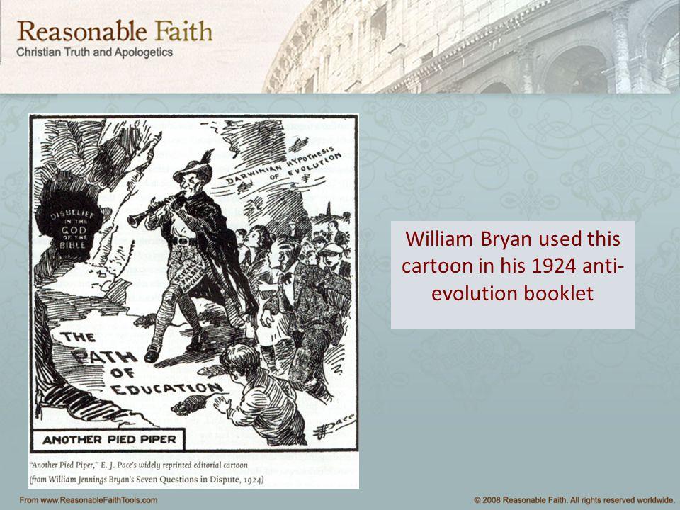 William Bryan used this cartoon in his 1924 anti- evolution booklet