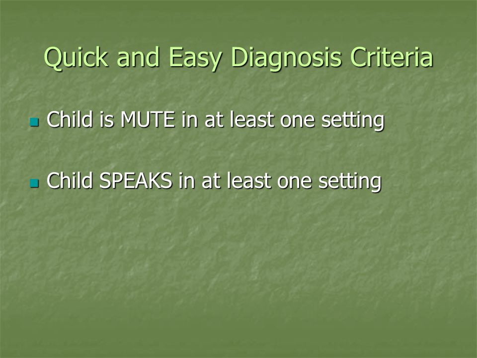 Stages of Selective Mutism Stage 1 Stage 1 Nonverbal Communication Nonverbal Communication 1A Responding (via pointing, nodding, writing, using sign language, etc.