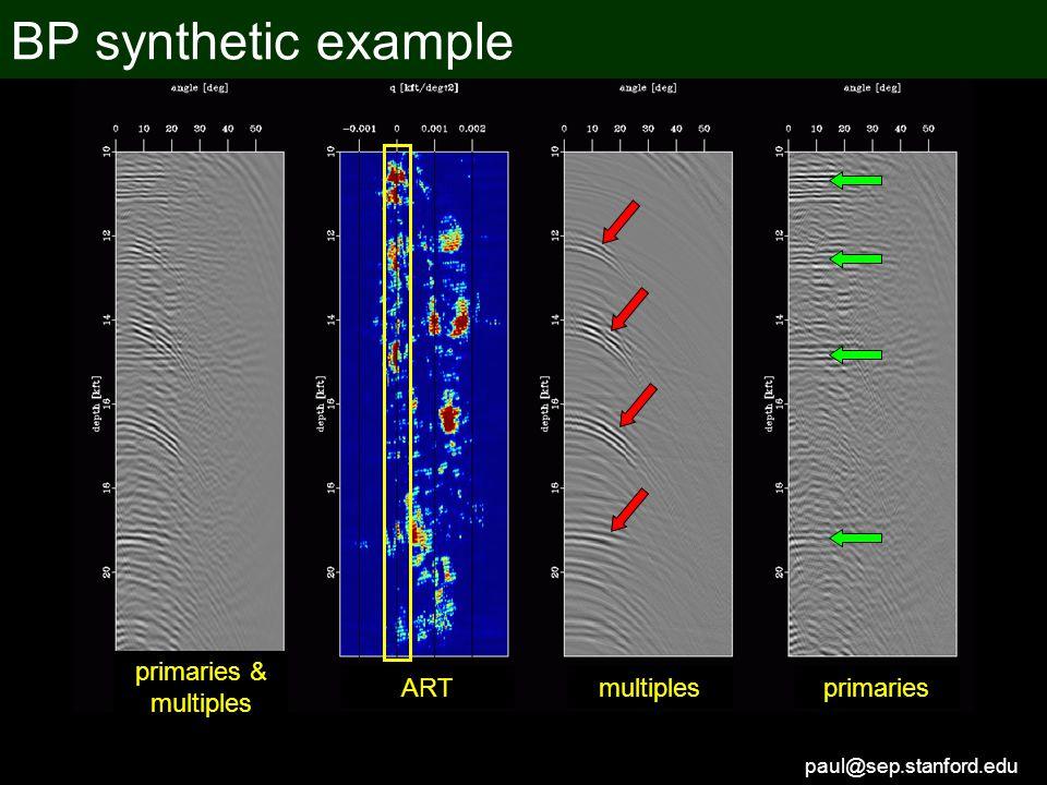 paul@sep.stanford.edu primaries & multiples primariesmultiplesART BP synthetic example