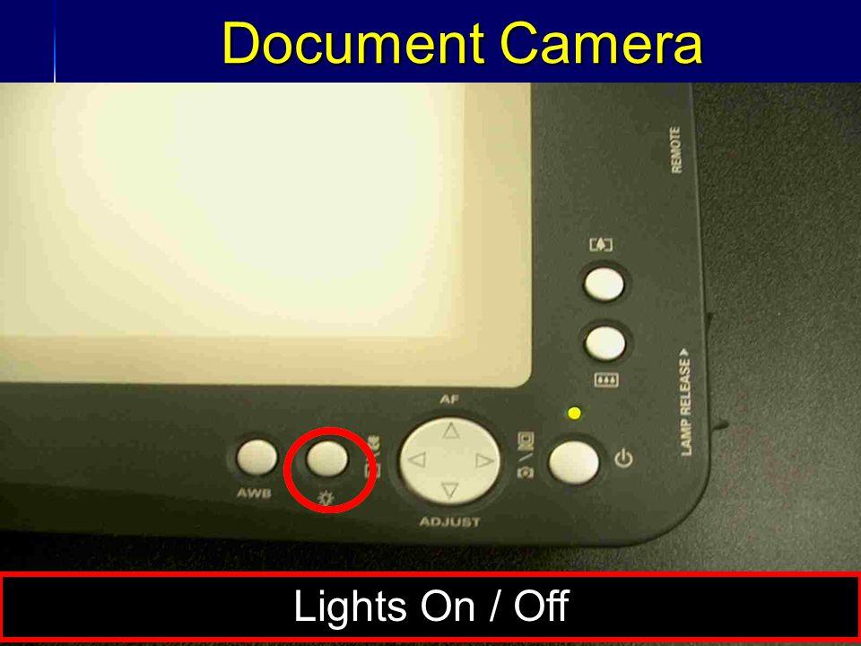 36 Document Camera Lights On / Off