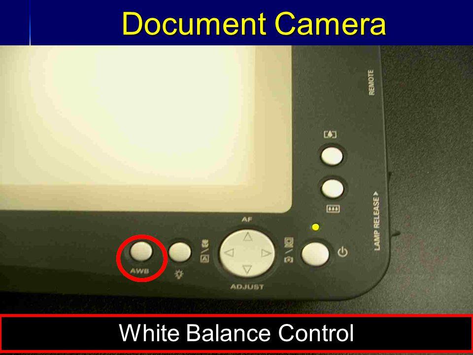 37 Document Camera White Balance Control