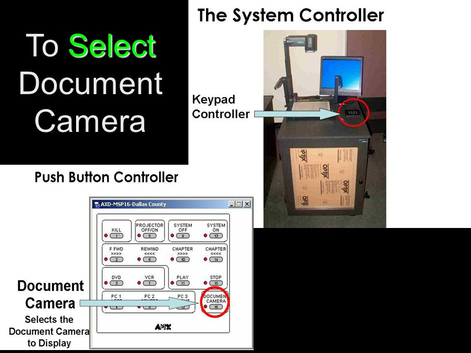 Select To Select Document Camera