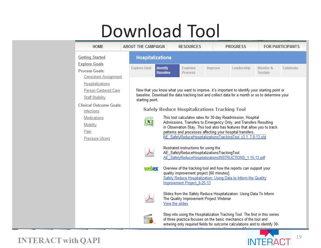 Download Tool INTERACT with QAPI 19
