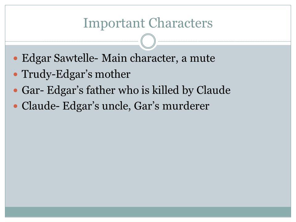 Conflicts Claude vs.Gar- greed towards power Claude vs.