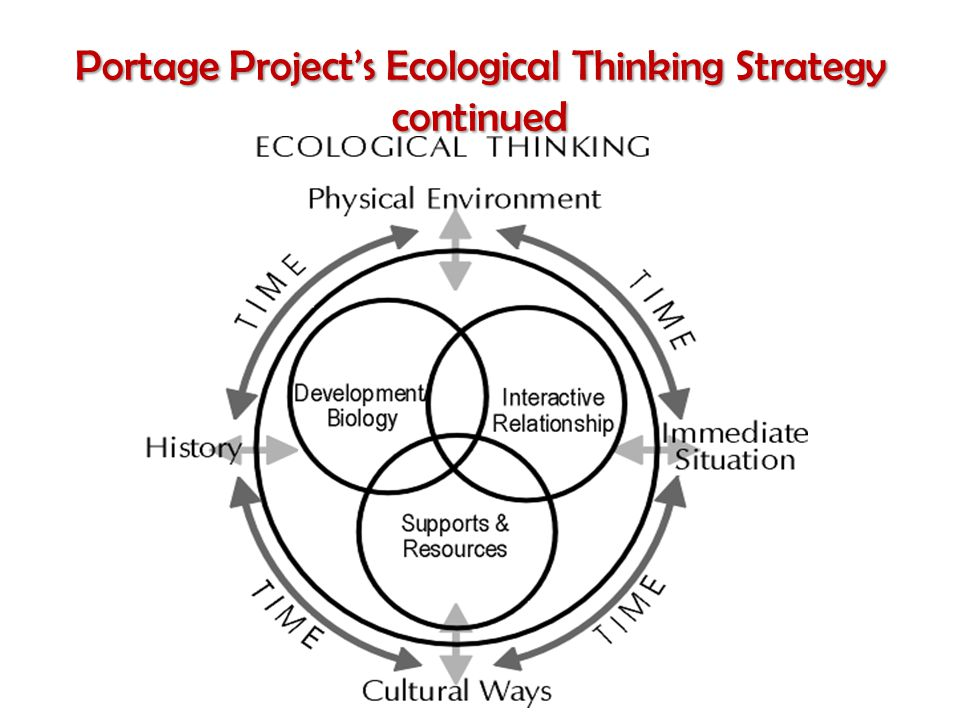Portage Project's Ecological Thinking Strategy continued