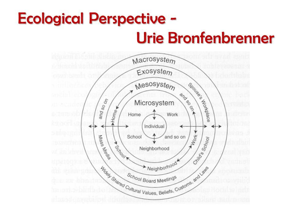 Ecological Perspective - Urie Bronfenbrenner