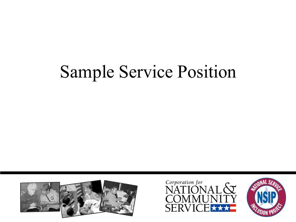 Sample Service Position