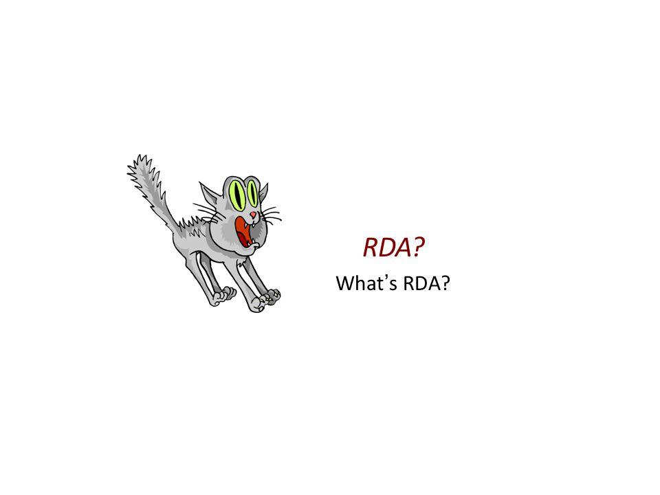 RDA What ' s RDA