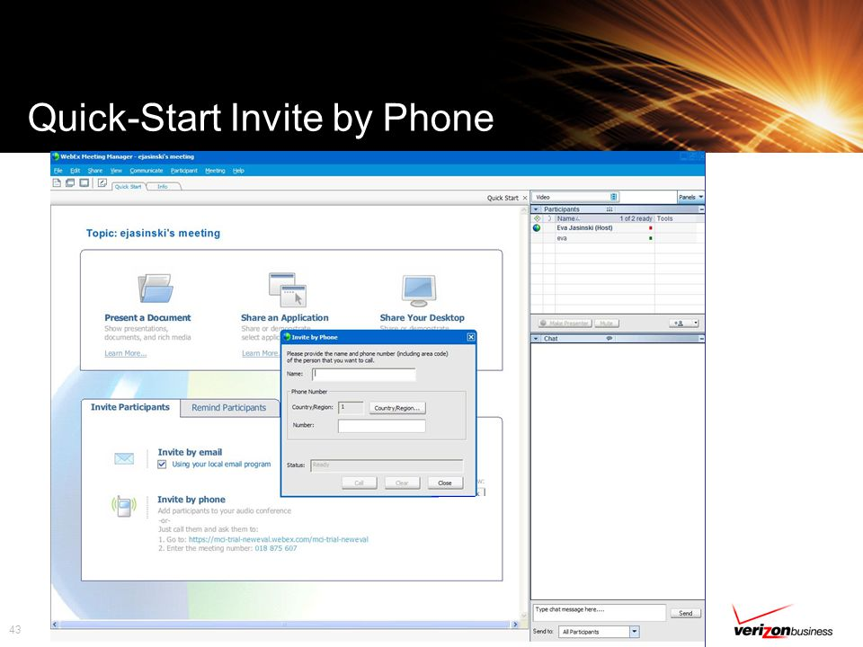 43 Quick-Start Invite by Phone