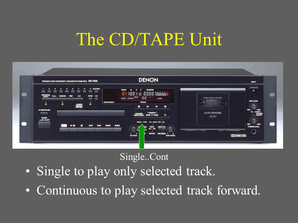Make sure the tape speed is centered during recording!.