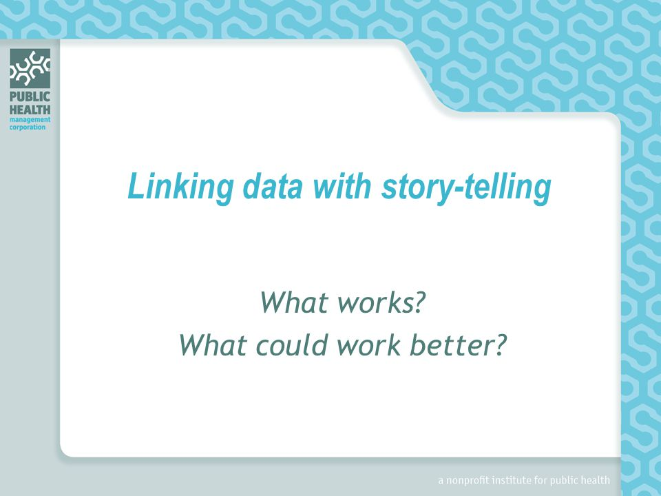 Linking data with story-telling What works What could work better