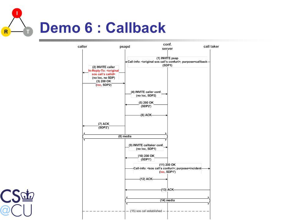Demo 6 : Callback
