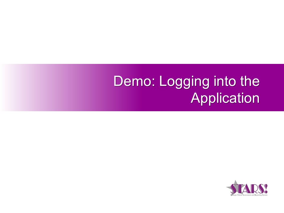Demo: Logging into the Application