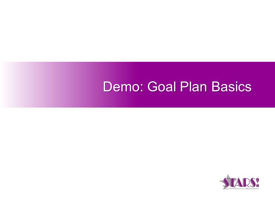Demo: Goal Plan Basics