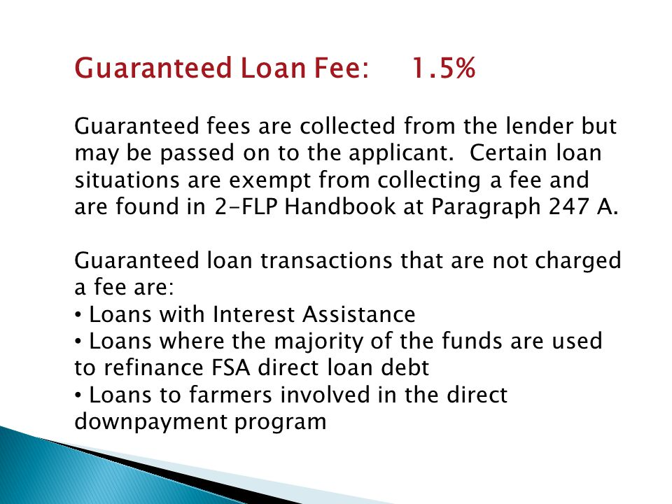 Increasing SDA Participation in the Guaranteed Loan Program What is SDA.
