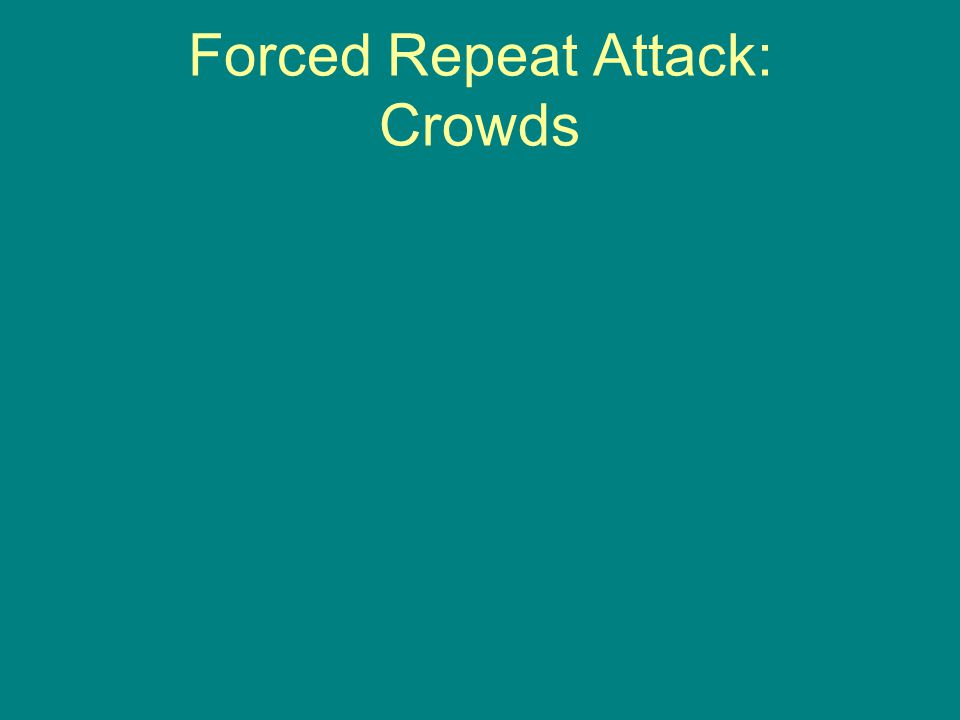 Forced Repeat Attack: Crowds