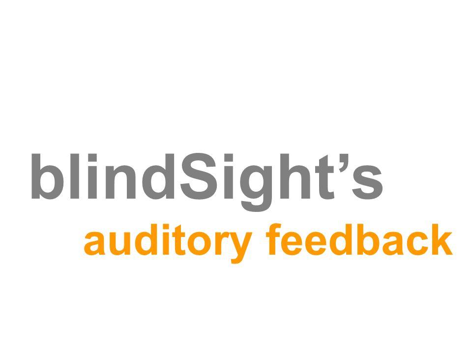 blindSight's auditory feedback
