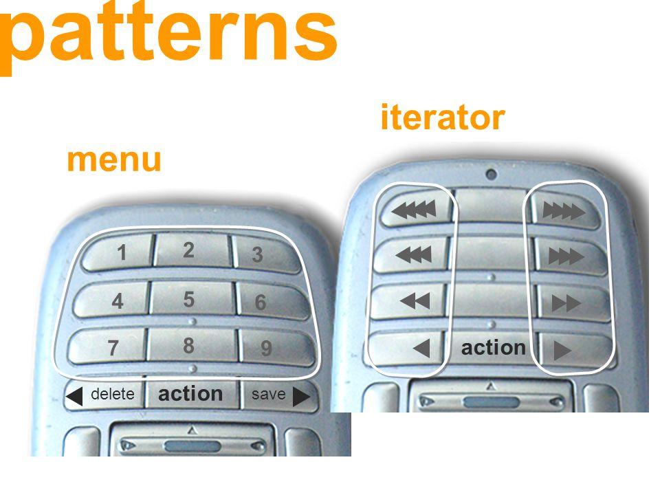 iterator 1 3 2 6 4 5 9 7 8 action deletesave menu patterns
