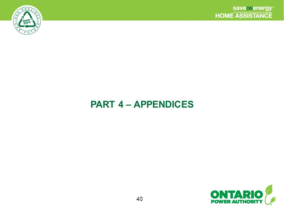 40 PART 4 – APPENDICES